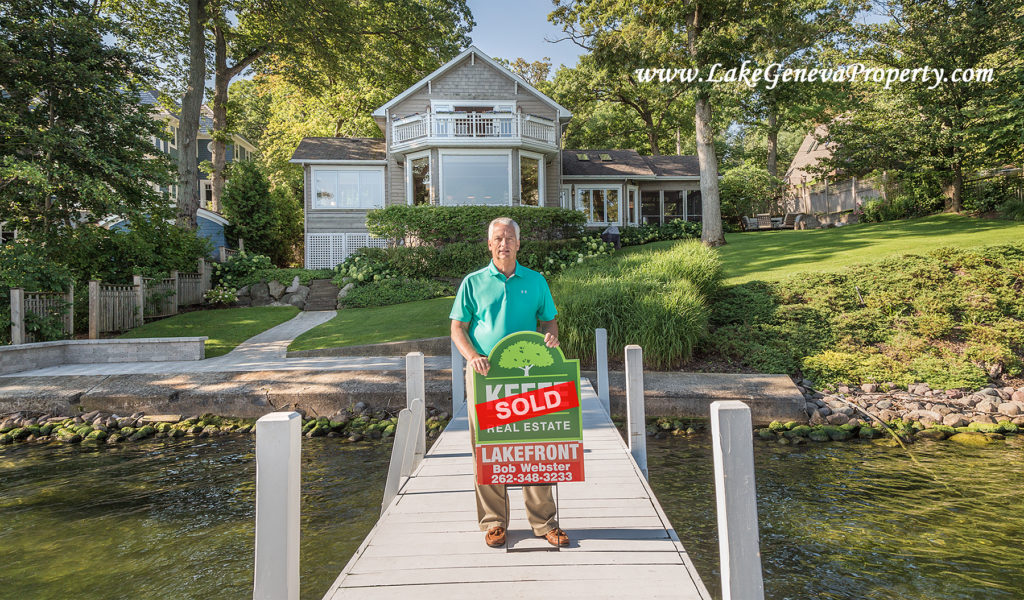 Bob Webster of Keefe Real Estate in Lake Geneva lake front real estate closing