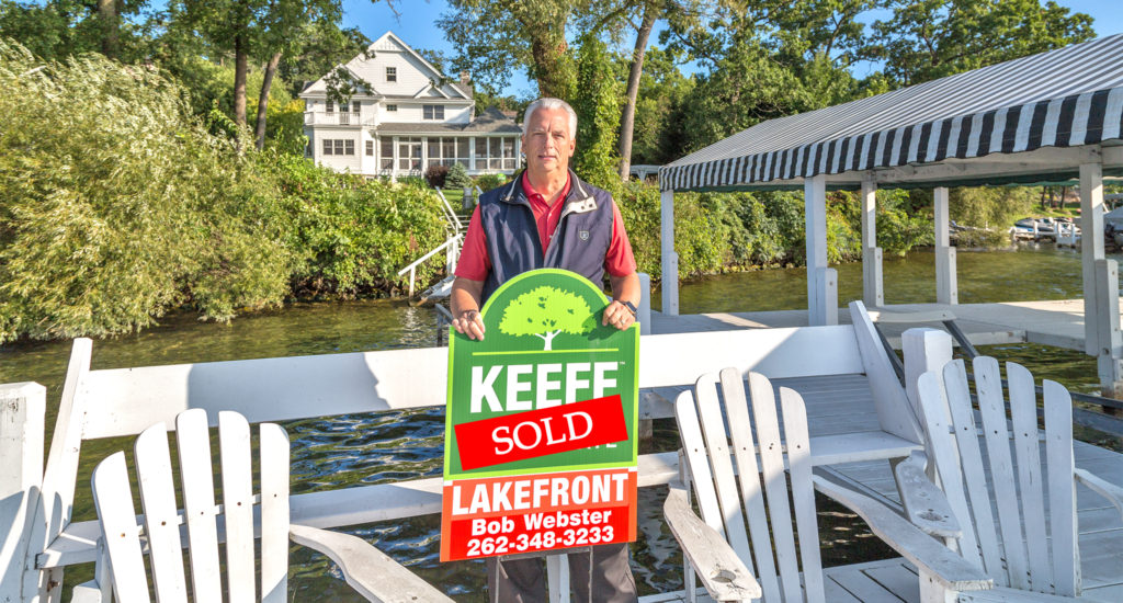 Lake Geneva Lakefrotn Sale by Bob Webster of Keefe Real Estate on the North Shore of the lake in Knollwood