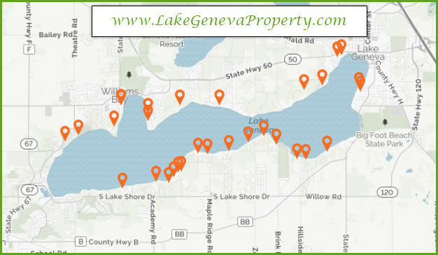 Lake Geneva Lakefront Property offers Lake Geneva lakefront property search