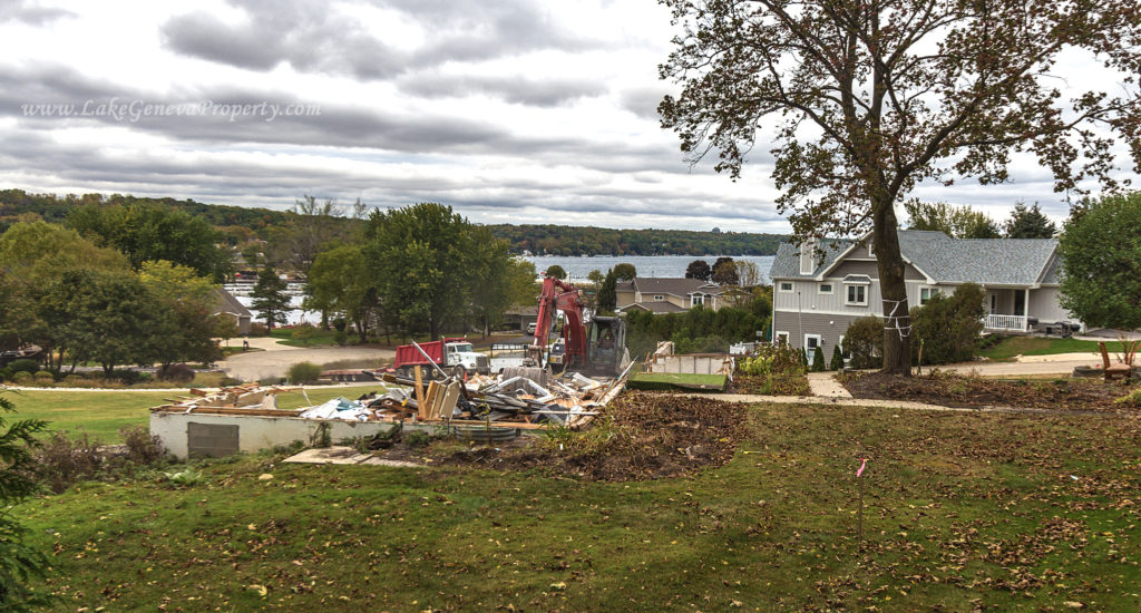 Shabbona Drive in Fontana Overlooking Geneva Lake Tear Down Summer of 2017